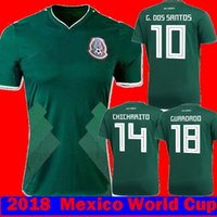 Wholesale R 17 - 2017 2018 Mexico HERRERA R MARQUEZ G.DOS SANTOS M LAYUN Soccer Jerseys 17 18 camisetas CHICHARITO GUARDADO C.VELA R.JIMENEZ Football Shirts