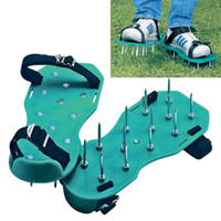 oxygen shoes - Lawn Care Garden Grass Sod Aerator Spike Spiked Strap Shoes Garden Tools the roots much needed oxygen