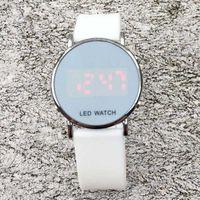 Wholesale led silicone watch band - Fashion NI Brand women men's unisex LED Digital display Silicone band wrist watch Full logo N03