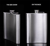 Wholesale Portable Stainless Steel - New hot 8 ounce stainless steel hip flasks portable flasks pocket flask flagon flask 100PCS 1777