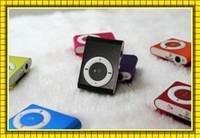 Wholesale Mini Clip Mp3 Mp4 Player - Colorful MINI Clip MP3 Player without Screen Music player Support Micro SD Card TF Slot + Earphone +USB Cable VS MP4 player