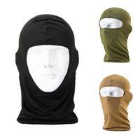 vollgesichts-paintball-maske großhandel-Thermal Fleece Warm Winter Radfahren Ski Hals Winddicht Masken Hood Paintball Hüte Motorrad Tactical Full Face Riding Maske