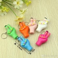 Keychain Light square foot ceramics - whilesale Luminescent hands and feet cute keychain Hot Hot spread the goods small gifts strange new toy commodity