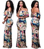 Wholesale Lantern Lotus - Goods In Stock Word Lead Will Pendulum Lotus Leaf Side Length Skirt Runway Models Formal Dress Empire Dresses