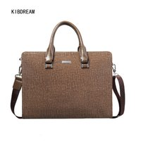 Wholesale Cheaper Handbags Chain - Wholesale- Cheaper PVC Briefcases Men Bag Crossbody and Tote Handbags Men's Portable Computer Bag Free Shipping