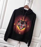 o leopardo imprime hoodies venda por atacado-Global NEW Moda Masculina Leopard Cat Impressão Hoodies Marca Lazer Moletom Com Capuz Camisolas Casuais Casacos Com Capuz Mulheres Casaco Com Capuz Preto