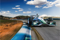 "One Panel Watercolor Fashion Free shipping 24""x35"" inch,F1 formula 1 car,Indy Car,track,race,Poster HD HOME WALL Decor Custom ART PRINT Silk Wallpaper unframed -205"