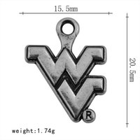 Wholesale Team Sports Accessories - ancient silver zinc alloy jewelry sports charms college students West Virginia team climber DIY pendant accessories wholesale