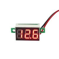 ingrosso mini voltmetro dc led-0,36 pollici DC 4.5V-30V Mini Voltmetro digitale LED rosso Voltimetri di pannello 3-Digital Voltmetro di regolazione Regolazione automatica 2 Fili