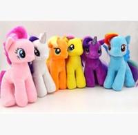 Wholesale Rainbow Pony - Wholesale-Small Ma Baoli rainbow pony horse plush toy doll doll