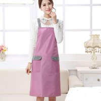 Wholesale Apron with Front Pocket for Chefs Butchers Kitchen Cooking Craft Baking Home Cleaning Tool Apron Acces New