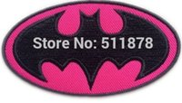 SUPER HERO BATMAN BAT MAN HOT PINK Logo Crest Badge TV film di fantasia ricamato cuce sul ferro sulla zona applique dropship