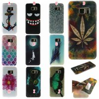 Wholesale Galaxy S4 Mini Owl - Flower Soft TPU Case For Samsung Galaxy J510 2016 J5 S4 MINI I9190 I9082 Cartoon Leaf Feather Owl Anchor Butterfly Silicon Rubber Skin Cover