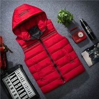 Wholesale Korean Hooded Jacket - Winter Vest men Hooded couple down cotton Korean Splice Slim vest female coat big yards thick Jacket waistcoat