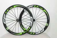 Wholesale Green Clincher Wheels - new design 50mm carbon wheel FFWD GREEN logo 50mm road bike wheelset carbon wholesale matte glossy