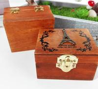 Wholesale Crank Boxes Wholesale - Fashion Hot Exquisite Hand Crank Musical Box Retro Vintage Wooden Music Box 4Different Patterns for Option Beautiful Decorative Patterns