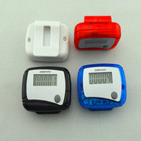 Wholesale 2016 Hot Health gift LCD Pedometer Step Counter MINI Calorie Counters Pedometers Walking Distance New Pocket colors