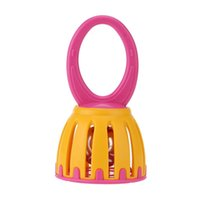 Wholesale Kids Musical Bells - Wholesale- Kids Handled Cage Bell Children Rattle Infant Baby Mini Educational Musical Percussion Toy