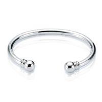 pulseiras de bracelete simples venda por atacado-Nova chegada 925 Sterling Silver cuff bangle Torque Plain Pulseira Pulseira Tamanho Aberto pulseira pulseiras para As Mulheres Frete Grátis