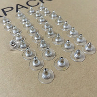 Wholesale Earring Post Nickel Free - 50 pieces Nickel Free Surgical Steel Stud Earnuts and 8mm Flat Pads, Silver Earring Posts with Back Stoppers