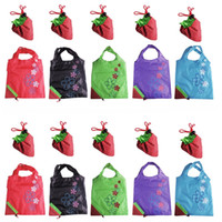 Wholesale Nylon Recycling Bag - Assorted Colors Nylon Strawberry Reusable Foldable Gift ECO Bags Recycling Use Shopping Bags Environmental Protection Pouch