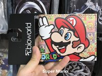 Wholesale Games Credit - Super Mario World Wallets Cute Cartoon Comics Purse Student Nintendo Game Super Mario Figures Wallet Credit Card Holder
