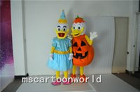 Wholesale Japanese Making Love - Halloween Pumpkin hat female male cartoon mascot costume Donald Duck mascot love garment factory direct support to private customized