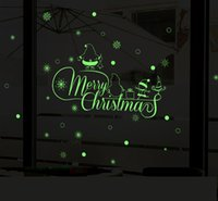 60x30cm Luminous DIY Weihnachtswandaufkleber Abnehmbare Dekorationskunst Windown Sticker Home Decor Shop Fenster Dekoration
