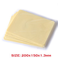 Wholesale Side Tattoos - Solong Tattoo High Quality Silicone Double Sides 10 Pcs 200x150x1.3mm Blank Tattoo Practice Skins Small Size for Beginners