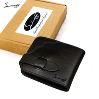 SMIRNOFF Marca de luxo Short Hasp Vegetable Tanned Leather Mini Carteira Com Moeda Pocket Card Holder Handmade Small Female Wallet
