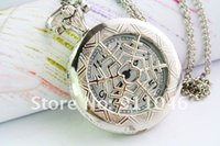 Wholesale Snowflakes Pocket Watch - free shipping Snowflake silver steel pocket watch, sweater chain,Gift Watch 50pcs lot Hot Sale