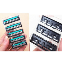 Wholesale Razor Cartridges - 15 in 1 safety mens razor blades double layer shaving razor blade 15 pcs cartridge & 1pc handle for men face shaver