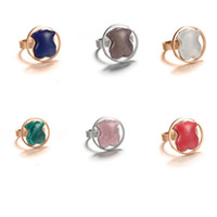 Wholesale Tibet Silver Natural Stone Rings - 2017 New Jewelry Stainless Rings Full size 6,7,8,9 Original design women fashion titanium 18k gold natural gems stone rings Anillo OSOS