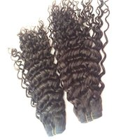 "Wholesale Deep Curl Peruvian Hair - 8A Unprocessed Brazilian Malaysian Indian Peruvian Hair Weave 8""-32"" Natural color deep curl 100% Human Hair wholesaler brazilian hair"