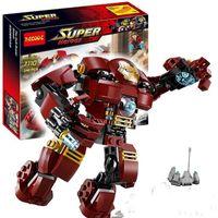 Wholesale Decool Iron Man - Decool 7110 Super Heroes Avengers The Hulk Buster Block Set Iron Man Kids Brick Toy Christmas Gift with box