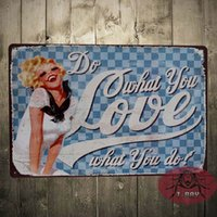 Wholesale Wooden Plaques Wholesale - Do What You Love Wall plaque Wooden Sign Word Art Primitive Rustic Home Decor H-90 160909#