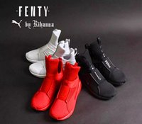 Wholesale Sneaker Women High Cut - 2016 Rihanna Puma Fenty Trainer White Red Black Running Shoes For Women Men, Fashion Sport Pumas Fenty Women Sneakers Hightop Attention Size