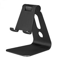 Wholesale Aluminum Tablet Pc Stand - Adjustable Angle Aluminum Metal Mobile Phone Tablet Desk Holder Stand For iPhone Samsung Cellphone Ipad Tablet PC Flexiable Retailpackage