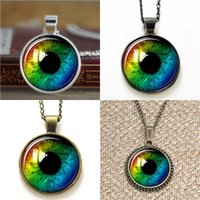 Wholesale Glass Evil Eye Necklace - 10pcs Rainbow Eye Third Eye Jewelry Evil Eye Pendant glass Necklace keyring bookmark cufflink earring bracelet