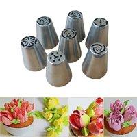 Wholesale Sugarcraft Decorating Tips - 7 pcs Large Icing Syringe Set DIY Coupler Nozzle Tool for Cake Pastry Sugarcraft Plunger Baking