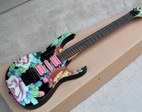 Wholesale Maple Patterns - Customzied Colorful Electric Guitar with Peony Pattern,Maple Neck,Pink H S H pickups,Flotd Rose,Can be changed