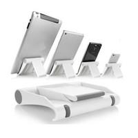 Wholesale Ipad Desktop Stand - Colorful portable Universal Desktop Foldable Adjustable Angle Stand Holder For Samsung iphone Tablet smart phone Ipad