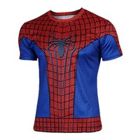 Wholesale Spiderman Cycling Tops - 2016 Hot Selling Handsome Spiderman Cycling Jersey Tops Anti Wrinkle & Quick Dry Short Sleeve Cycling Jerseys Tops Cycling For Beginners