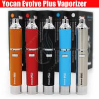 vapeur pour e-cigarettes achat en gros de-Kit original Yocan Evolve Plus Kit vaporisateur de cire à base de plantes 1100mAh stylo vape sèche vaporisateur de stylo vaporisateurs Double bobine de quartz e Kits de vapeurs de cigarettes