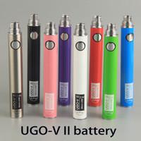 vape ego pen metal al por mayor-Original UGO-V2 II 650 900 mh EVOD ego 510 Batería micro USB Carga vaporizadores e cigarrillos O pluma Vape baterías 0270001