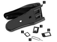 iphone ücretsiz kullanıldı toptan satış-Ücretsiz kargo 2 in 1 Nano Mikro sim kart kesici iPhone 6 için artı 5 4 s 4 Samsung S6 S5 Not Cep telefonu Yükseltme Için çift kullanımlı