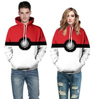 Wholesale Elf Hats - New fashion Hoodies with hat Poke 3D casual Hoodies Elf Ball 3D printing man and women Sweatshirts
