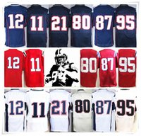 Wholesale Butler Jerseys - With Name & Logo Stitched ELITE 11Julian 12 BRADY 87 Rob 21 BUTLER 95 JONES 80 AMENDOLA PATS Football Jerseys Sport HOT
