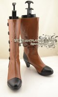 Wholesale Elizabeth Cosplay - Wholesale-Black Butler Elizabeth Midford high heel Cosplay Boots shoes shoe boot #NC210 anime Halloween Christmas