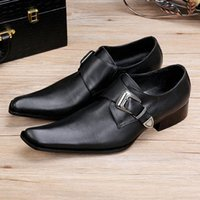 Wholesale Hand Painted Flat Shoes - 2017 New Luxury Italian Hand Painted Business Dress Shoes square toes business casual shoes Black Genuine Flats hairdresser shoes Z149